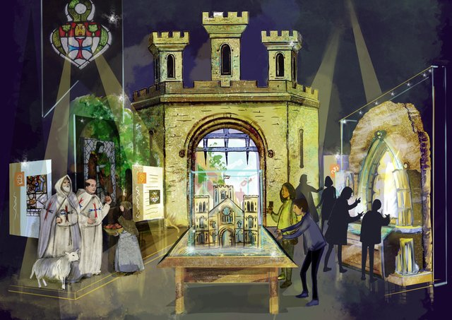 St Robert and the Trinitarian Priory Concept visual for Knaresborough Museum Association January 2021