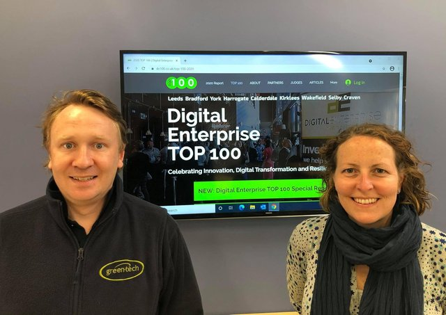 Green-tech's online manager Dan Burton and marketing director Kate Humes.