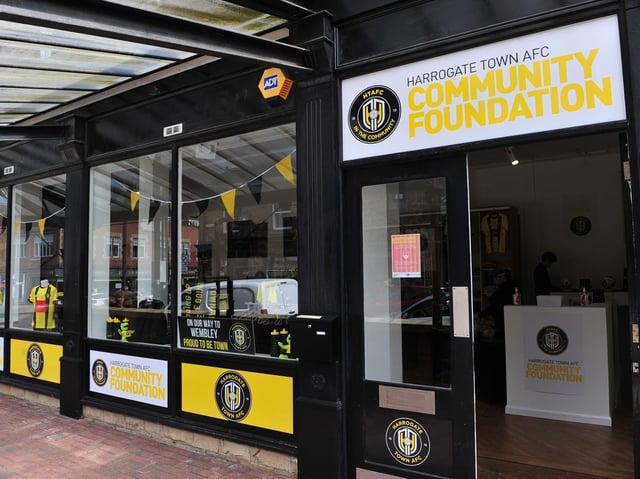 Harrogate Town's pop-up shop in Harrogate. (Picture Gerard Binks)