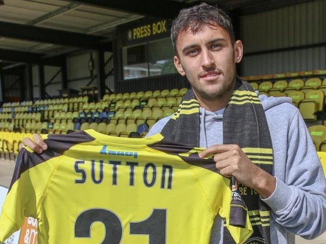 Levi Sutton signed for Harrogate Town on a month-long loan deal back in August 2018. Picture: Matt Kirkham