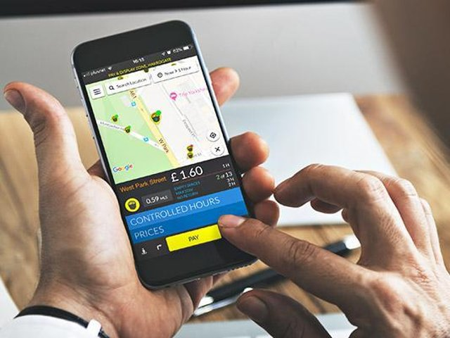 AppyParking works by using sensors to give app users a real-time map of available spaces.