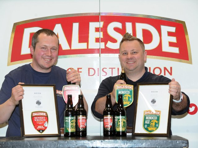 Daleside Brewery in Harrogate wins two major awards in London - Head Brewer Rob Millichamp and General Manager Adam Cox. (Picture Gerard Binks)