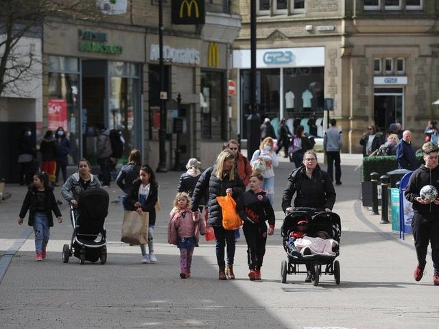 Shoppers returned to the high streets as lockdown restrictions were lifted last Monday.