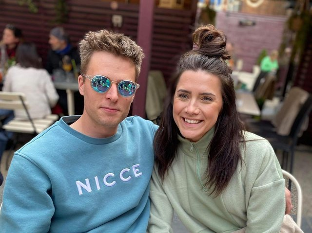 Emerald Boyd and her boyfriend Tom Blackmore, who encouraged her to seek support for her eating disorder.