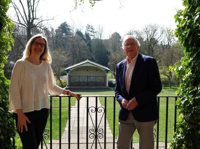Harrogate International Festivals Chair, Fiona Movley, and Peter Blackburn CBE, Harrogate International Festivals Honorary President.