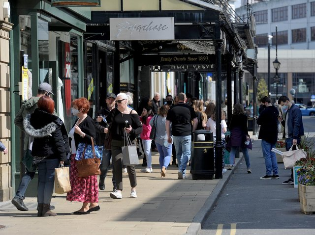 Going on a spending spree - A busy James Street in Harrogate (Picture Gerard Binks)