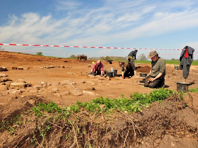 'Medieval' discovery at a building site outside Scotton. (Picture Gerard Binks)