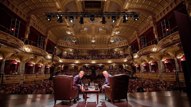 Lee Child and John Grisham at the HIF Theakston Old Peculier Crime Writing Festival