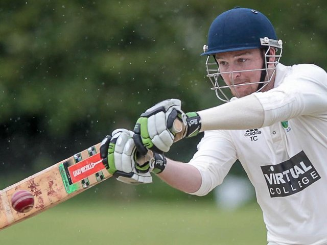 Tom Croston and his fellow Birstwith batsmen were in fine form on the opening weekend of the 2021 Theakston Nidderdale League campaign. Picture: Caught Light Photography