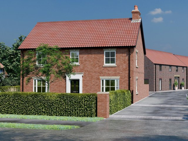 Roman tribute - Kiln House at Boroughbridge, one of the five properties being brought to life there by Brigantia Homes.