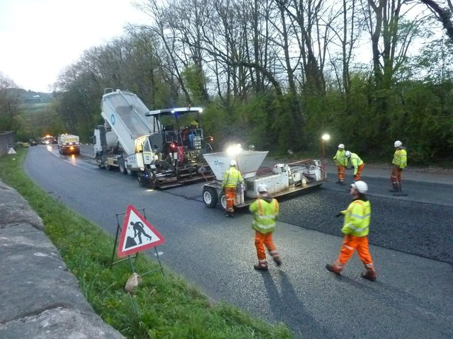 Good progress is being made on the A61 at Almsford Bank in Harrogate on surface repairs.