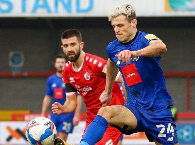 Josh March in action for Harrogate Town against Crawley. Pictures: Matt Kirkham