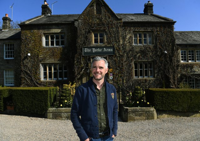 Head gardener Dean Dean Bolton-Grant who is overseeing the new Northern School of Gardening, which is being hosted at the Yorke Arms at Ramsgill-in-Nidderdale, near Pateley Bridge. Picture : Jonathan Gawthorpe