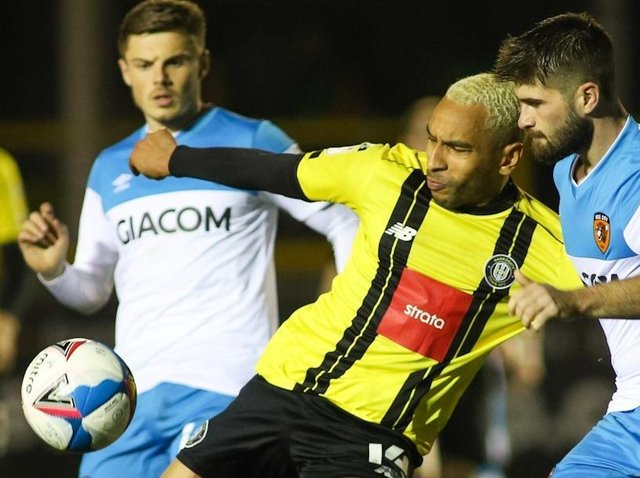 Brendan Kiernan is one of a number of Harrogate Town players who could be in line for a recall against Cambridge. Pictures: Matt Kirkham
