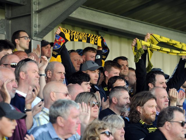 Harrogate Town fans will once again miss out on seeing their team at Wembley when they play on Monday.