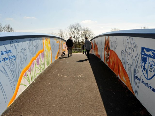 The mural on the Iron Bridge was vandalised just days after it was completed.