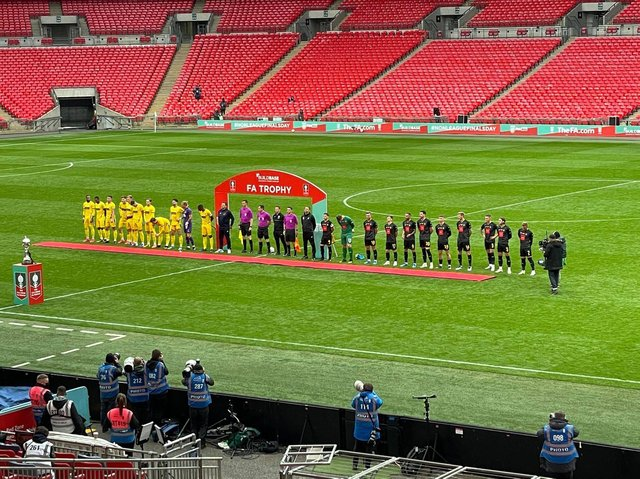 Harrogate Town face Concord Rangers in the FA Trophy Final at Wembley this afternoon.