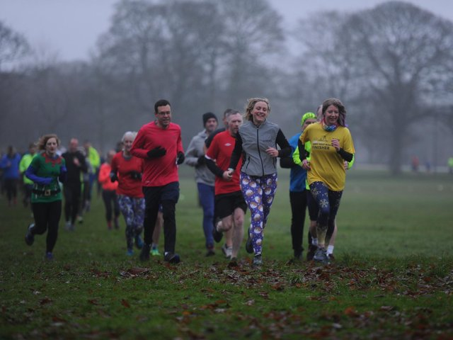 Flashback to runners in pre-Covid days taking part in Harrogate Parkrun which first took place in 2012.