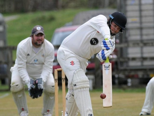 Louis Foxton played his part with the bat as Pateley Bridge CC beat Goldsborough in Division One of the Theakston Nidderdale League. Pictures: Gerard Binks