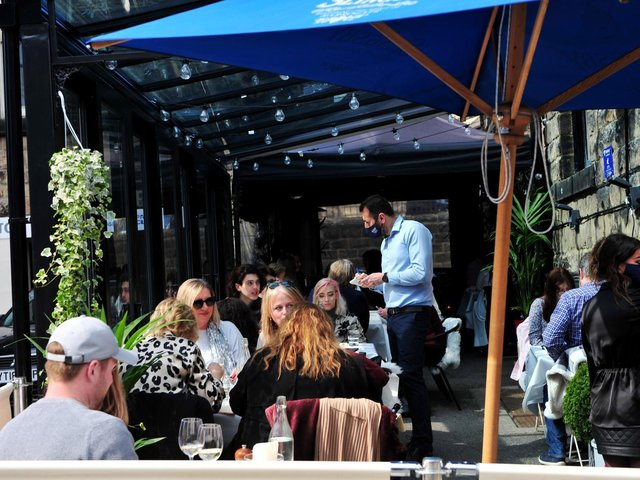 Businesses in the hospitality sector such as William and Victoria's restaurant in Harrogate are keeping their fingers crossed  for better weather. (Picture Gerard Binks)