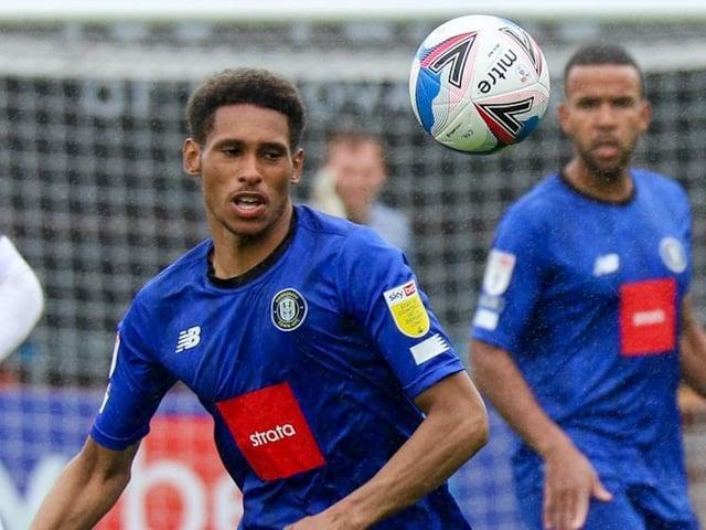 Harrogate Town midfielder William Hondermarck in action against Cheltenham Town. Pictures: Matt Kirkham