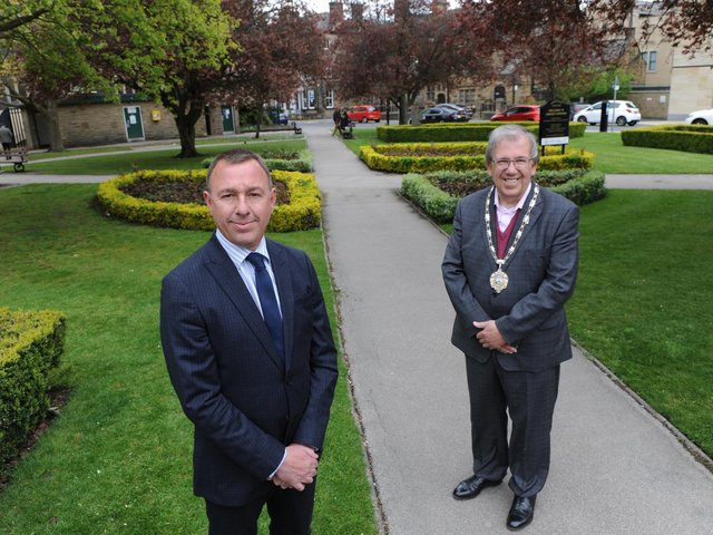 Harrogate District Chamber of Commerce's new chief executive David Simister, left, and the Chamber President, Martin Gerrard.
