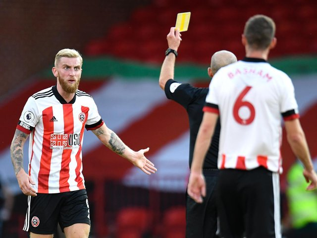 Sheffield United striker Oli McBurnie appears to get involved in a street fight in Knaresborough in a viral video on social media. Picture: Getty Images.