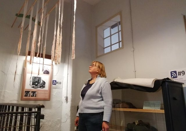 Artist Sarah Lowe and her work, which was inspired by stories of medical care in the Workhouse.
