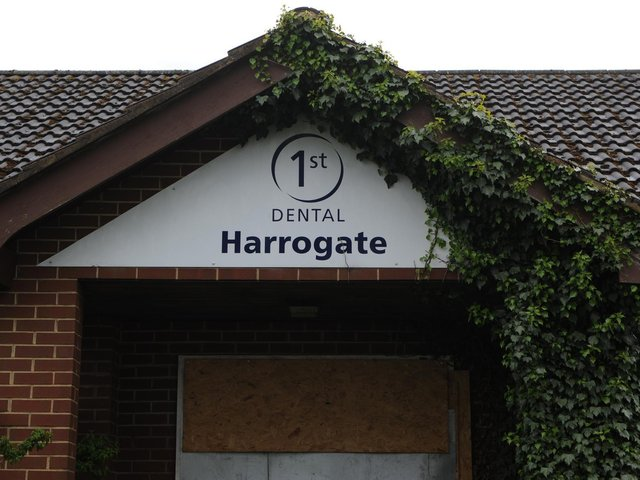 Site of a dispute - The former dental building on Wetherby Road in Harrogate which may become a Starbucks drive-thru. (Picture Gerard Binks)
