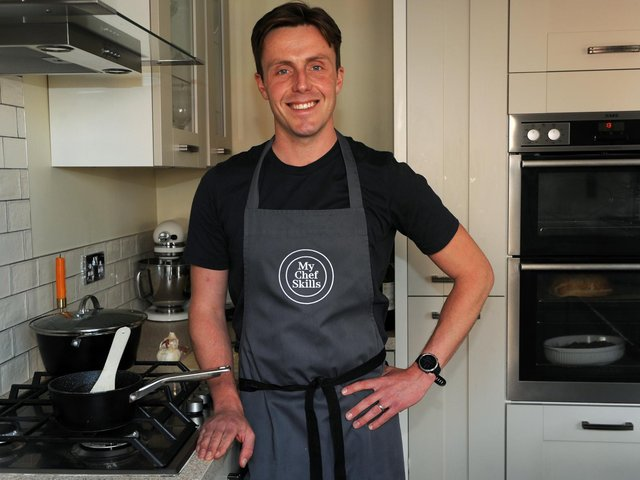Entrepreneur Jonny Ross who has set up a new chef tips online business called My Chef Skills, Harrogate (Picture Gerard Binks)