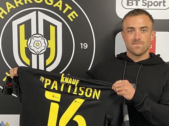 Alex Pattison has signed for Harrogate Town, becoming the club's first signing of the summer transfer window. Picture: Harrogate Town