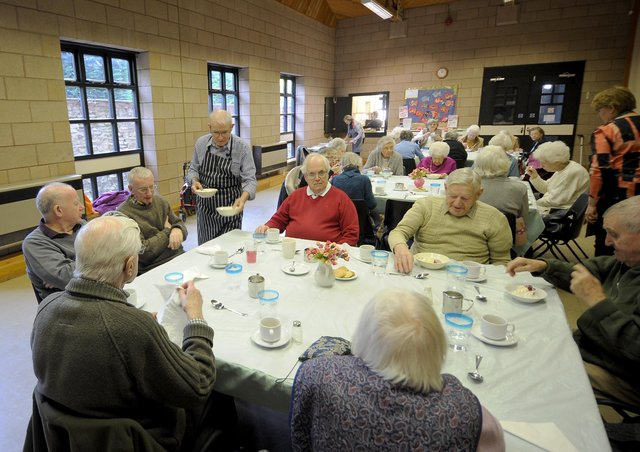 The Sherburn Visiting Scheme supporting seniors in pre covid times. Picture by Simon Hulme