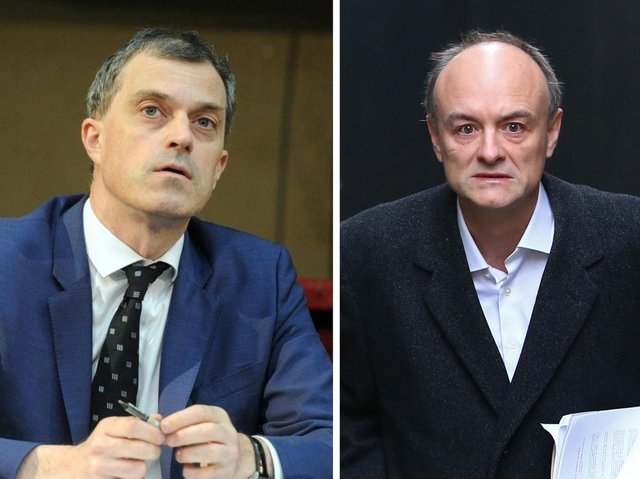 Ripon and Skipton MP Julian Smith (left) and the Prime Minister's former chief adviser Dominic Cummings (right). Photo: Getty.