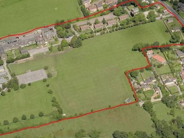 This is the proposed site boundary for the former police training site on Yew Tree Lane.