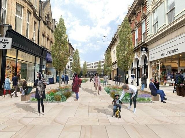 How a pedestrianised James Street would look: The latest public consultation in Harrogate found 45% of people were in favour of the full pedestrianisation of James Street while 17% backed a partial pedestrianisation.