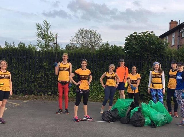Plogging - Nidd Valley Road Runners first had the idea of combining running with picking up litter last year.