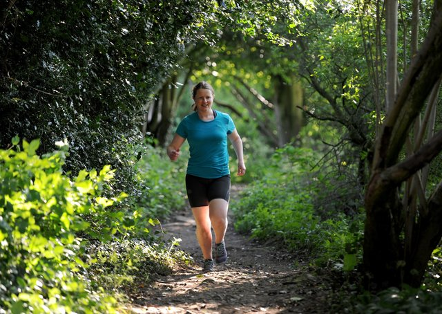 Lauren Audsley in training on the Nidderdale Way for her charity run. Picture Gerard Binks