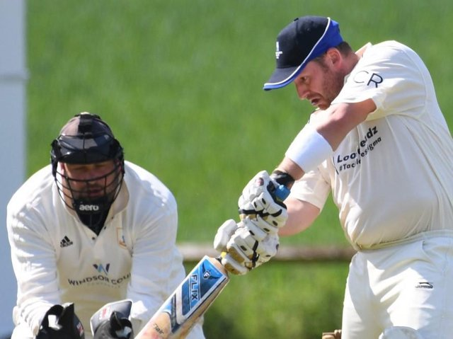 Will Haines was in fine form with the bat during Blubberhouses' Theakston Nidderdale League Division One defeat to Goldsborough. Picture: Gerard Binks