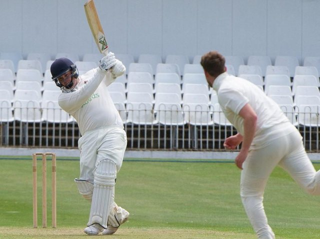 Ross Sedgley top-scored for Harrogate CC during Saturday's defeat to Dunnington. Picture: Andy Standing