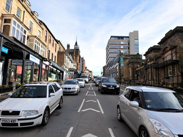 Traffic in Parliament Street in Harrogate as it is now. The cost of change would be high, claims a leading county councillor.