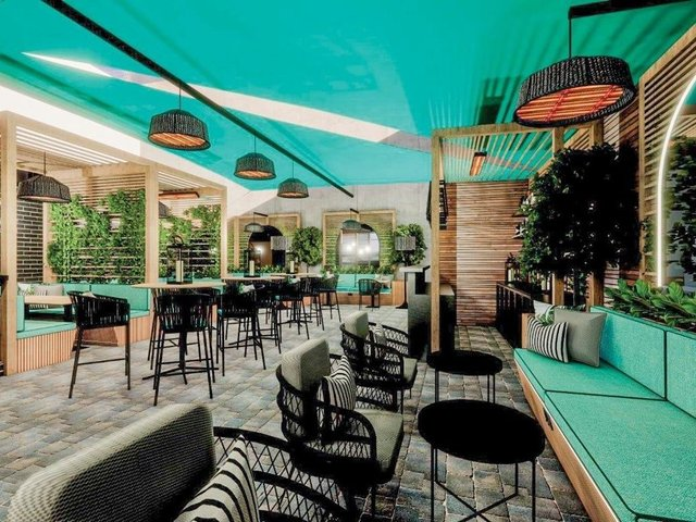 West Park Hotel's spectacular-looking new all-weather courtyard and bar in Harrogate after a major makeover.