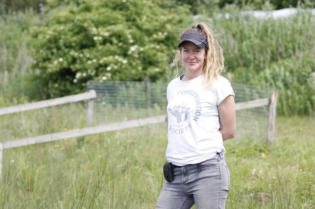 Emma Higgs, Project Officer at the Lower Ure Conservation Trust.