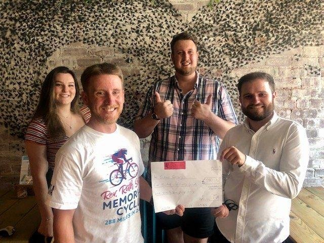 Harrogate bar Starling Independent Bar Café Kitchen's Simon Gregory who is taking on an epic bike challenge for charity.