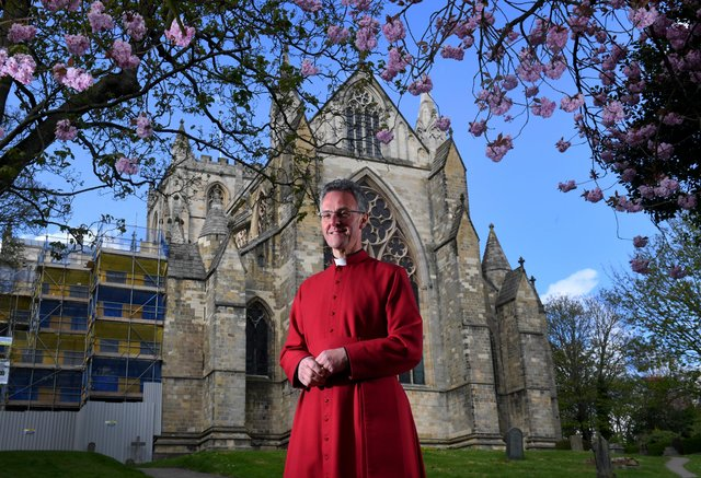 The Dean of Ripon John Dobson pictured at Ripon Cathedral..30th April 2021..Picture by Simon Hulme
