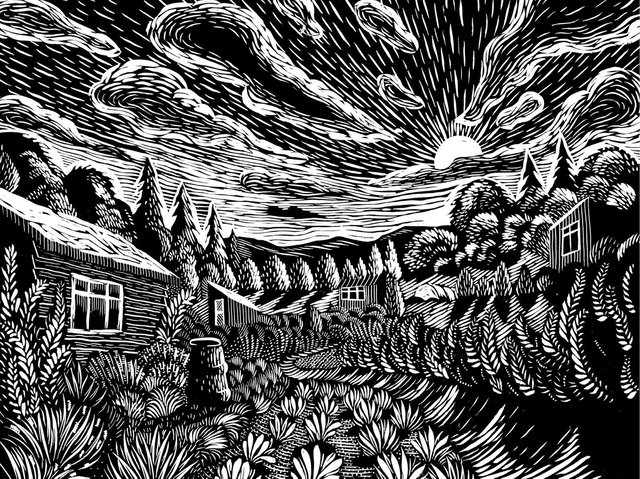 An illustration by Nick Hayes from Harrogate writer Rob Cowen's new book The Heeding which is published today.