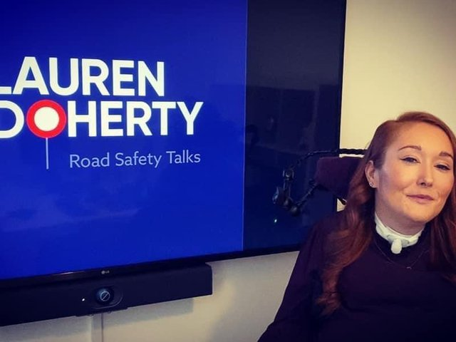 """Ex-Harrogate High School student Lauren Doherty - """"To receive recognition from the Queen for the work I do around Road Safety is, in my opinion, the highest accolade I can receive."""""""
