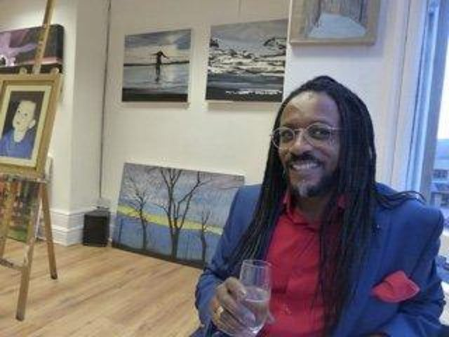 Artist Kevin George who has launched the Harrogate Upstairs Gallery (HUG).