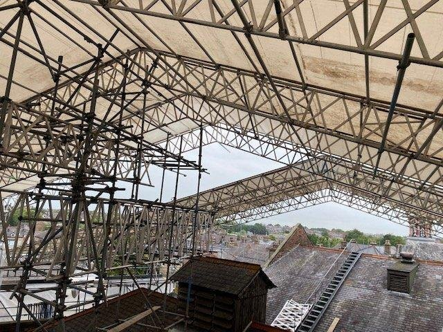 A £1 million project to replace the 120-year-old roof at Harrogate Theatre is progressing well.