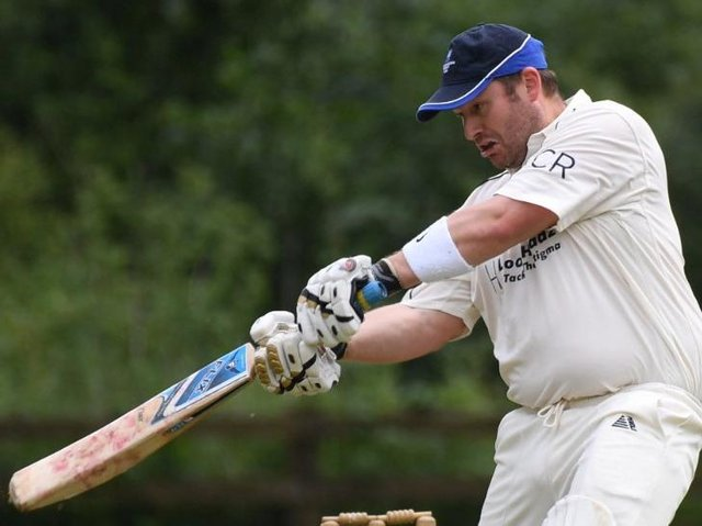 Will Haines was in fine form with the bat during Blubberhouses' win over Kirk Deighton. Picture: Gerard Binks