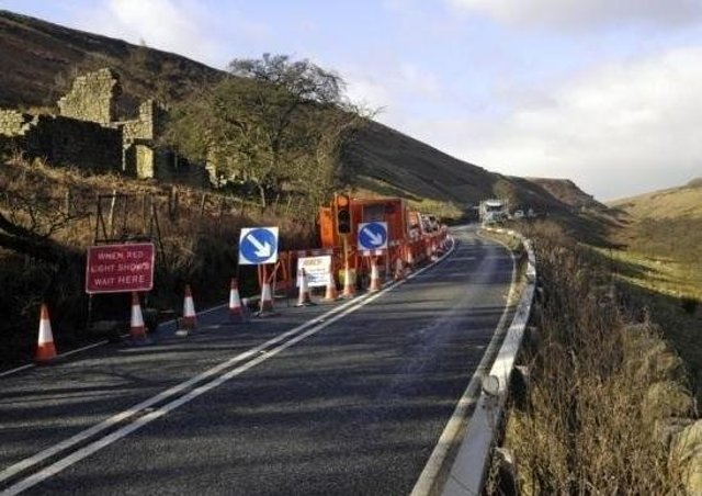 The A59 at Kex Gill has been subject to many landslips.